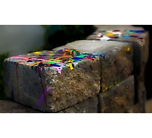 Picture Painted Stone Photographic Print