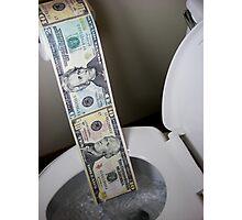 Flushing Money Away Photographic Print
