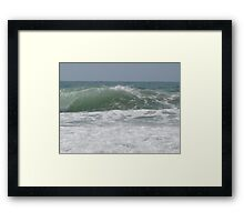 Right there, at the right time. Framed Print