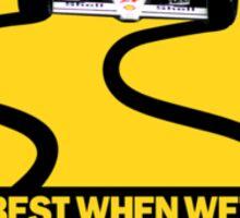 Senna - Slippery When Wet Sticker