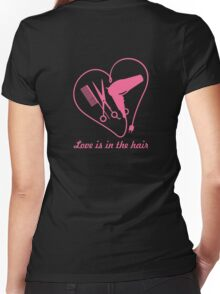 Love is in the hair VRS2 Women's Fitted V-Neck T-Shirt
