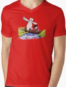 Hiro and Baymax Mens V-Neck T-Shirt