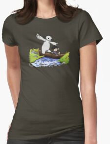 Hiro and Baymax Womens Fitted T-Shirt