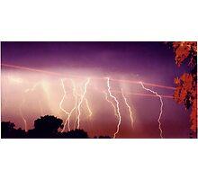 Lightning never strikes twice Photographic Print
