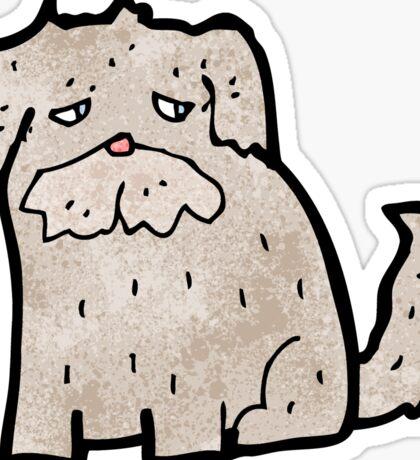 cartoon scruffy dog Sticker