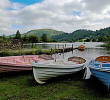 Boats on Grasmere by Philip Teale