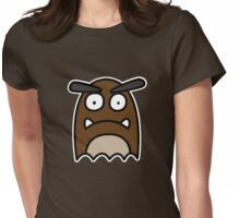 Goomba Ghost Womens Fitted T-Shirt