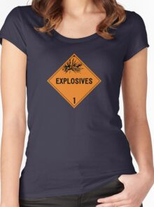 HAZMAT Class 1: Explosives Women's Fitted Scoop T-Shirt