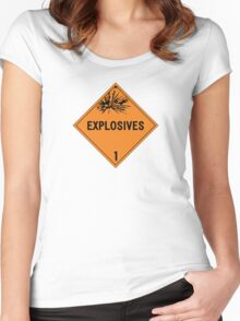 HAZMAT Class 1: Explosives Women's Fitted Scoop T-Shirt