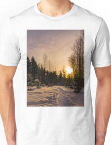 Winter  Dawn sunrise  Unisex T-Shirt
