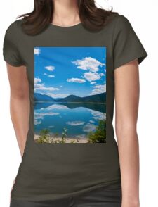 12 mile lake view  Womens Fitted T-Shirt