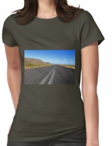 Iceland Endless road Womens Fitted T-Shirt