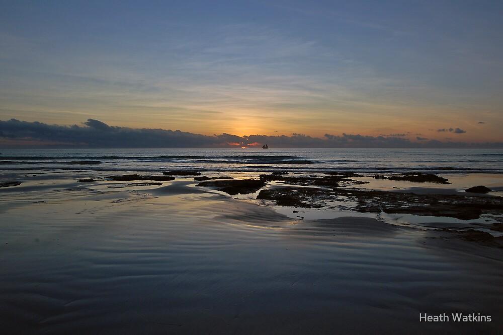 Alone on the sea by Heath Watkins