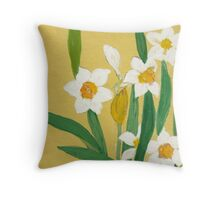 Daffodils from Amphai Throw Pillow
