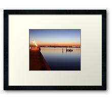 St.Kilda Pier Sunset Framed Print