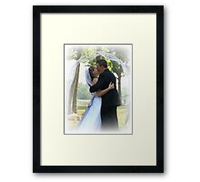 the first kiss Framed Print