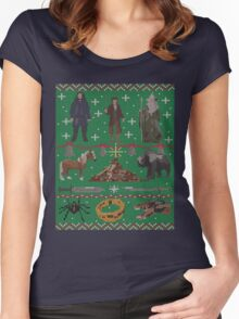 Hobbit Christmas Sweater Women's Fitted Scoop T-Shirt