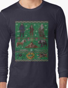 Hobbit Christmas Sweater Long Sleeve T-Shirt