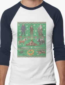 Hobbit Christmas Sweater Men's Baseball ¾ T-Shirt