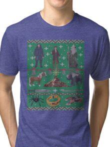 Hobbit Christmas Sweater Tri-blend T-Shirt