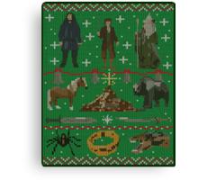 Hobbit Christmas Sweater Canvas Print