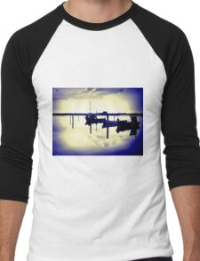 Magical reflection of a small dinghy dory boats Men's Baseball ¾ T-Shirt