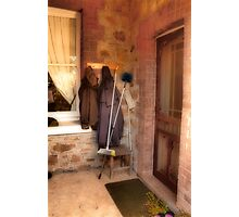 Coats and Brooms Photographic Print