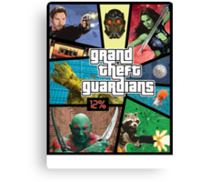 Grand Theft Guardians | Guardians of the Galaxy Canvas Print