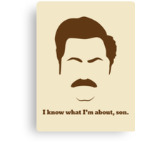I know what I'm about, son. Canvas Print