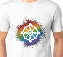 LGBT Buddhist Wheel of Dharma  Unisex T-Shirt