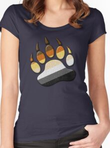 Gay Bear Pride Paw  Women's Fitted Scoop T-Shirt