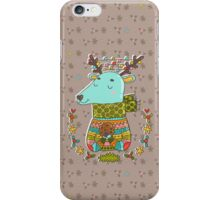 Winter deer iPhone Case/Skin