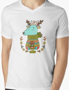 Winter deer Mens V-Neck T-Shirt