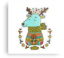Winter deer Metal Print