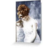 lace and pearls Greeting Card