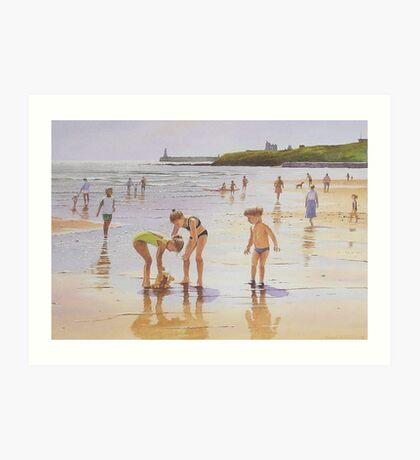 Summer at Tynemouth Art Print