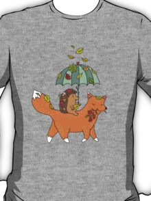 Hedgehog and fox T-Shirt
