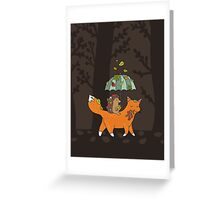 Hedgehog and fox Greeting Card