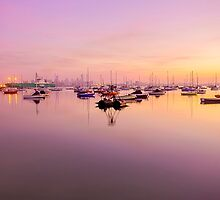sunrise in the bay by ketut suwitra
