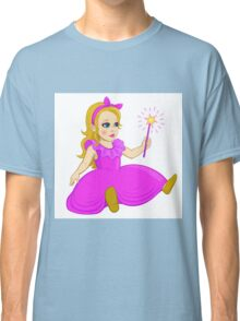 Doll in pink and purple dress with magic wand Classic T-Shirt