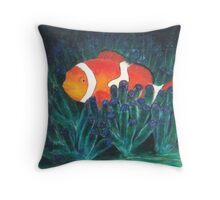 Tropical Clown Fish Throw Pillow