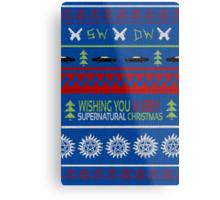 Supernatural Christmas Sweater Metal Print