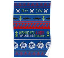 Supernatural Christmas Sweater Poster