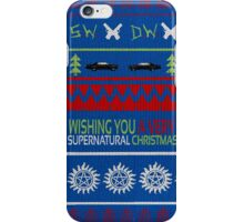 Supernatural Christmas Sweater iPhone Case/Skin