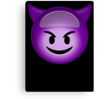 Evil Purple Canvas Print