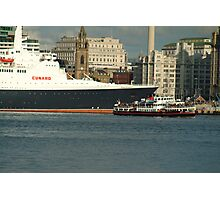 The QE2 VISITS LIVERPOOL FOR THE LAST TIME-4 Photographic Print