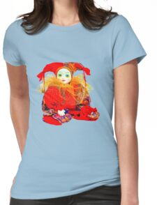 Clown Jester doll Womens Fitted T-Shirt