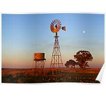 Evening Glow - Narrandera Poster