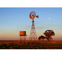 Evening Glow - Narrandera Photographic Print
