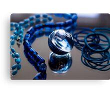 Blue Bubble - Macro Photography Canvas Print